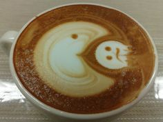Pac Man Coffee ~ Texture - liquid Color - brown Shape - circle  Temperature - warm Flavor - sweet