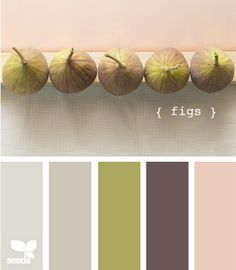 very soothing and warm color pallete. Plus I <3 figs