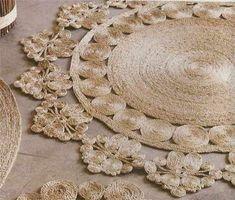 Плетем коврик из джутовой веревки своими руками