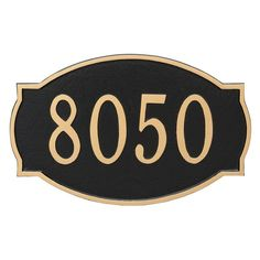 Montague Metal Cambridge Estate Address Sign Wall Plaque - PCS-0054E1-W-CS
