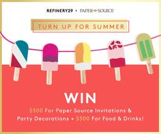 Win everything you need to throw the BEST summer party! Enter now: http://r29.co/1IOJGZG #SummerFun #Win #Giveaway