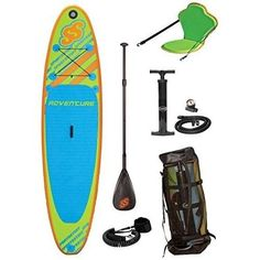 """Inflatable Stand Up Paddleboard 10'6"""" w/Seat Keel Beginners SUP Durable Grip Pad #SportsStuff"""