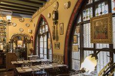 Zona cafetería del restaurante Els 4 Gats
