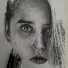 Hyperrealistic Pencil Drawing By Monica Lee