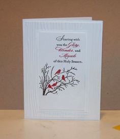 Serene Silhouettes - Card for Religious Christmas Card Class