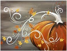 Check out our favorite painted pumpkins featuring the cute and the creepy. Plus, get our best tips for creating Halloween pumpkin decorations and displays. Fall Canvas Painting, Autumn Painting, Autumn Art, Canvas Art, Pumpkin Painting, Pumpkin Drawing, Canvas Ideas, Painted Canvas, Halloween Painting