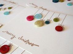 Easy and Fun DIY Button Christmas Cards