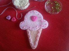 Eiscremetüte aus Filz