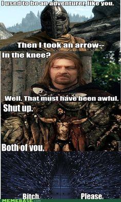Funny skyrim meme