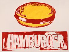 Andy Warhol, Hamburger, 1985-1986, acrylic on linen (Andy Warhol Museum, Pittsburgh)