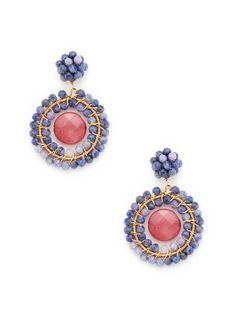 Lucy Purple & Pink Quartz Earrings by KEP on Gilt.com