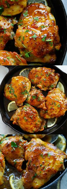 Spicy Honey-Glazed Chicken – the best skillet chicken dinner ever, in a spicy and sweet honey glaze. Takes 20 to make | rasamalaysia.com
