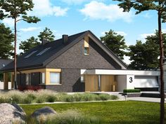 DOM.PL™ - Projekt domu AC Daniel IV G2 CE - DOM AF9-57 - gotowy koszt budowy Village House Design, Village Houses, Style At Home, House Construction Plan, Home Fashion, House Plans, Shed, Exterior, Outdoor Structures