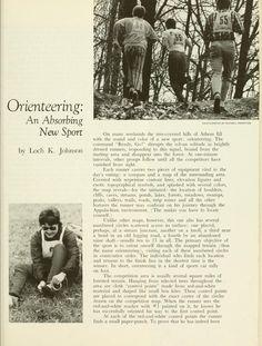 "The Ohio University Alumnus Magazine, Nov 1974. ""Orienteering: An Absorbing New Sport."""