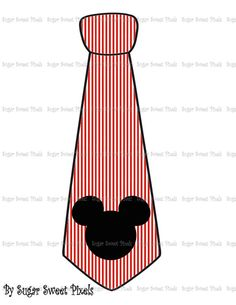 INSTANT DOWNLOAD Red  white stripe  Mouse Head by sugarnspicebow
