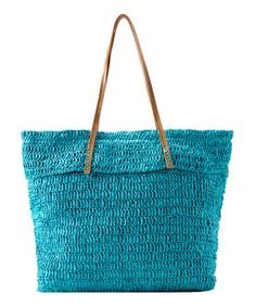 Take a look at this Turquoise Aruba Tote by Shiraleah on #zulily today!