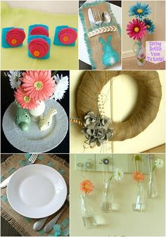 Spring Craft and Decor Ideas - More With Less Today - Some of our favorite spring craft and decor ideas. Create inexpensive decor items for spring!