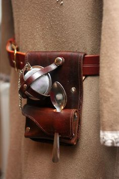 "The ""Teacup Companion"" Holster---For a Teaspoon, Infuser, and Tea Bag/Leaves by Versalla on Etsy"