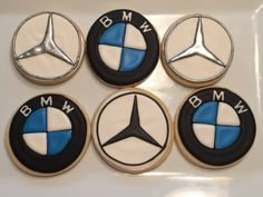 Mercedes and BMW cookies just for the groom by www.sweetinsanitybakedgoods.com