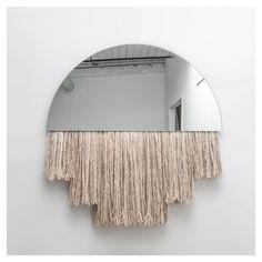 styletaboo:   Ben & Aja Blanc - Half Moon mirror - Lost In Fiber | agency