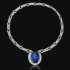 Sapphire and diamond pendant necklace - Sotheby's