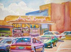 """""""Brent's Drugstore"""" by Wyatt Waters"""