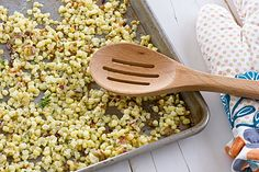 Roasted Corn with Caramelized Shallots and Thyme