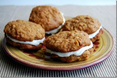 Spiced Apple Whoopie Pies with Cream Cheese-Marshmallow Filling