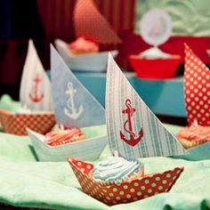 Fun nautical-themed birthday party put together by Sabrina Khan.
