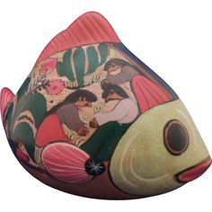 Mexican Folk Art Pottery Fish
