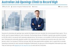 Vacancies for job openings have reached the highest level ever recorded, the Commonwealth Bank reports. The Australian Bureau of Statistics reported open positions increased to 203,700.