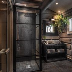 Chivalrous volunteered modern country style home decor see here now Modern Cabin Interior, Cabin Interior Design, Modern Lodge, Modern Rustic Homes, Bathroom Interior Design, Modern Country, Country Style, Cabin Bathrooms, Rustic Bathrooms