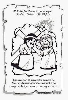 Jardim da Boa Nova: Via Sacra Religion, Comics, Kids Bible Activities, Easter Story For Kids, Sunday School Kids, Catechism, Educational Crafts, Sunday School, Comic Book