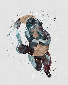 War Path X-men Watercolor Art - VividEditions