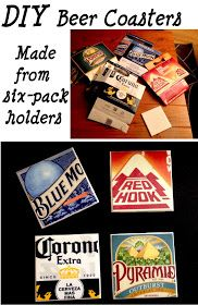 DIY Beer Coasters - Or if you don't drink you could make these from any kind of cardboard container that has something you like ! - DIY and Crafts Diy Projects To Try, Crafts To Do, Craft Projects, Beer Crafts, Diy Projects Man Cave, Beer Bottle Crafts, Crafts Cheap, Tile Crafts, Sous Bock