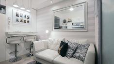 These Condo Units Show Amazing Small Space Solutions Condo Interior Design, Room Furniture Design, Small Apartment Design, Condo Design, Small Room Design, Apartment Layout, Home Room Design, Apartment Bedrooms, Apartment Ideas