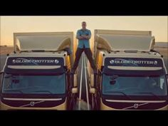 VAN DAMME - Real split between two trucks (HD) - Complete story - YouTube