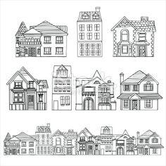 Houses Royalty Free Stock Vector Art Illustration