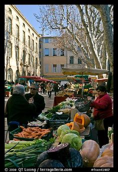 Aix-en-Provence, France--Vegetable Market