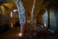 (VIEW 3 OF 3) | Pécsvárad Castle, 10. century chapel | Hungary, Baranya County.  Fortress and Benedictine monastery, founded in 988. www.pecsvaradivar.hu/en/history-of-the-castle Pécsváradi vár,  10. sz-i kápolna. www.pecsvaradivar.hu/a-var-tortenete