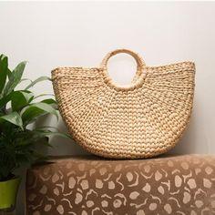 Handmade hand woven bag straw beach bagstraw tote | Etsy