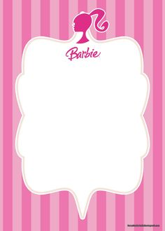 Who doesn't know about Barbie? Barbie is one of the dolls figured the character of a girl. Many kids love to see Barbie since it has beautiful eye and good lashes. Here, we adopt the Barbie pictures to our collection named Free Barbie Birthday Invita Barbie Party Decorations, Barbie Theme Party, Barbie Birthday Party, Birthday Party Themes, Barbie Birthday Invitations, Free Birthday Invitation Templates, Templates Printable Free, Printables, Invitaciones My Little Pony