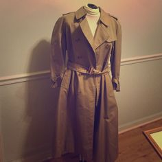 Burberry Vintage Trench Coat Size 14