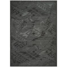 Safavieh Palazzo Black/ Grey Over-dyed Chenille Rug (8' x 10') | Overstock.com Shopping - The Best Deals on 7x9 - 10x14 Rugs