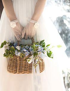 PEU・CONNU [MARIAGE]BOUQUET #03 Wedding Bouquets, Wedding Flowers, Wedding Gift Baskets, Nantucket Wedding, First Day Of Spring, Silk Flower Arrangements, Flower Girl Basket, Container Flowers, Silk Flowers