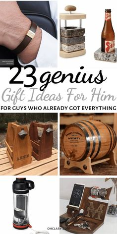 23 Unique Gift Ideas For Him That Will Rock His World! Romantic birthday, Christmas and Valentine's day gifts for boyfriends, husband or friend. These AWESOME presents for men are great for any man in your life, your dad, brother or even a co-worker! If you don't know what to get him, check out my gift guide for men for great ideas! #giftsforhim #valentinesgiftforhim #christmasgifts #christmasgiftideas #giftsforfriends