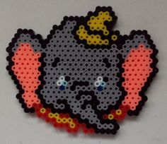 Week 26, Day 181, Disney, Dumbo.  Perler 365 Day Bead Challenge.