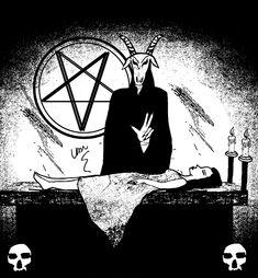 666 by Van Burmann #goat #horror