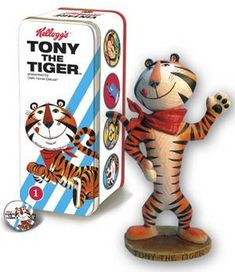 Characters & Dolls Merchandise & Memorabilia Good Tony The Tiger Frosted Flakes Kellogg's Cereal Advertising Premium Doll Toy Box Choice Materials