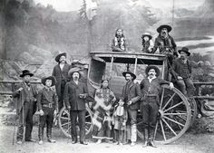 The Deadwood Stage c.1880. (Buffalo Bill Cody with the cane)